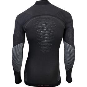 UYN Fusyon UW T-shirt Manches longues Col roulé Homme, caviar/beige/bordeaux
